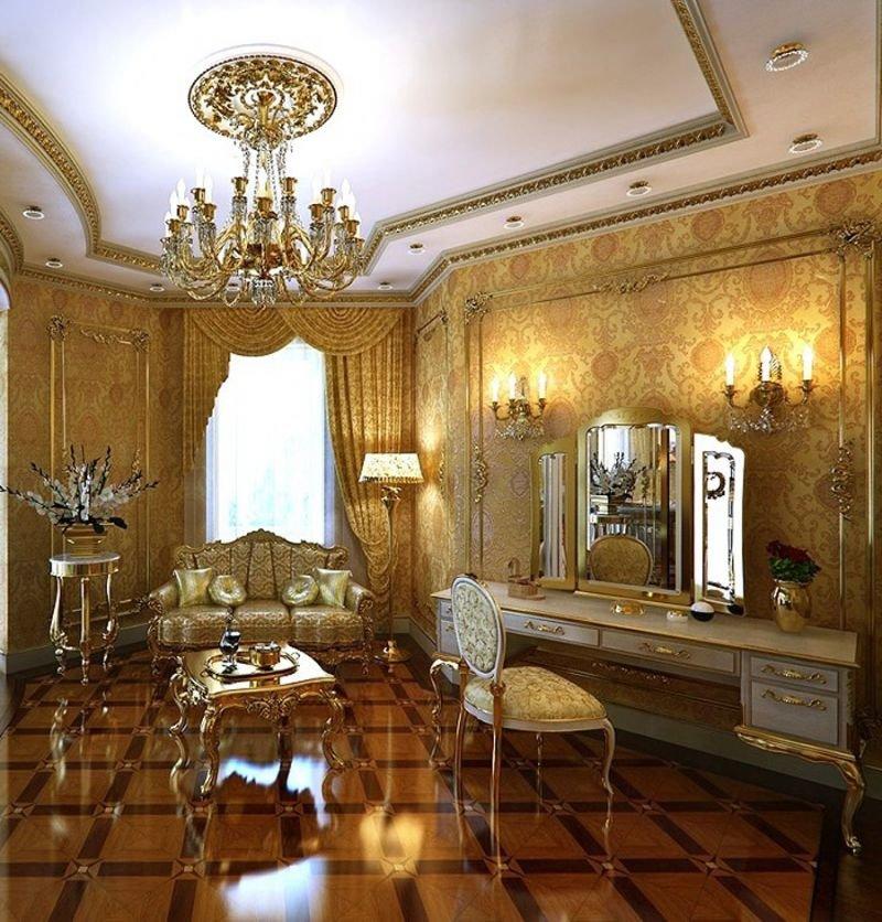 Создание стиля барокко в интерьере
