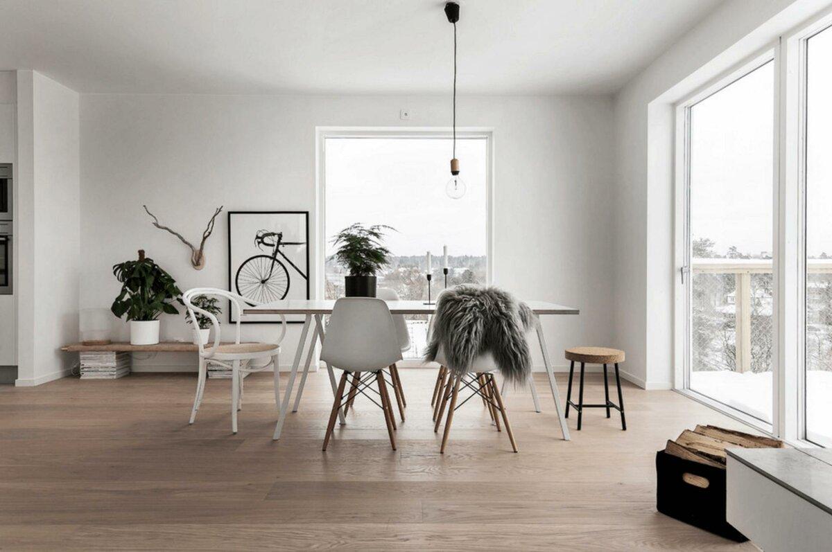 Интерьер в скандинавском стиле, фото