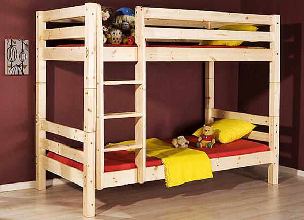 Предлагаем простые и более сложные чертежи двухъярусной кровати своими руками