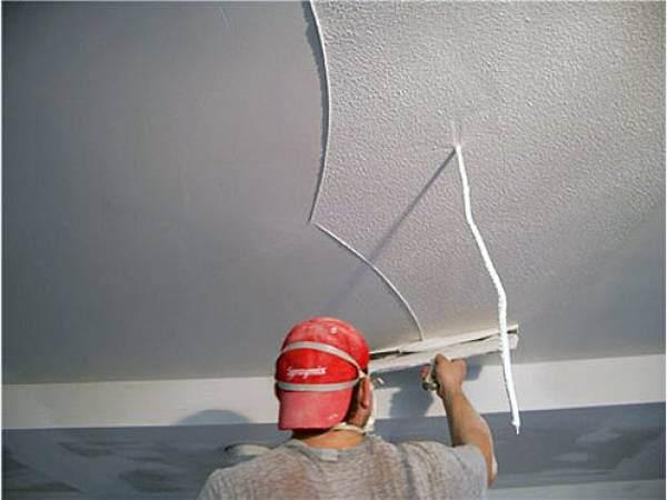 Как зашпаклевать потолок своими руками