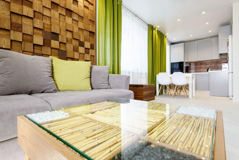 Экостиль в интерьере квартиры: варианты дизайна оформления помещения с фото