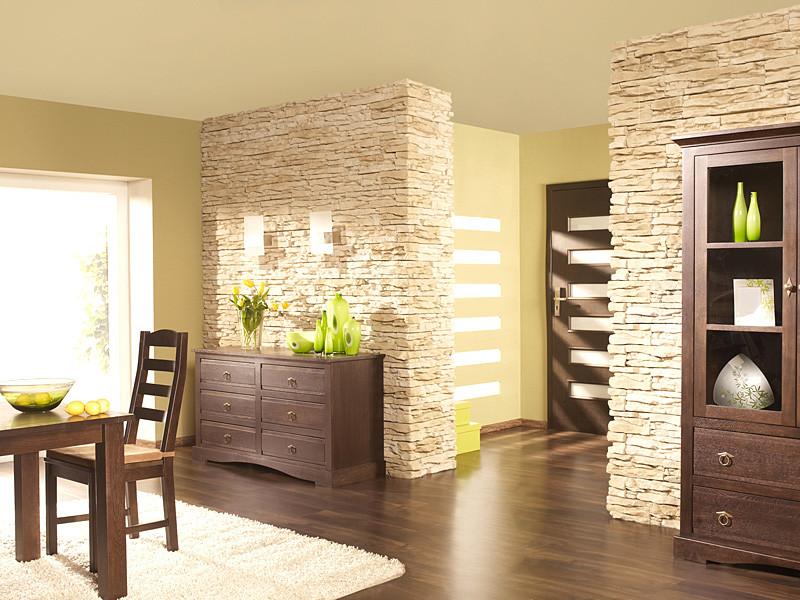 Камень на стене в кухне: виды, варианты отделки, сочетания, цвет, стили, 70 фото
