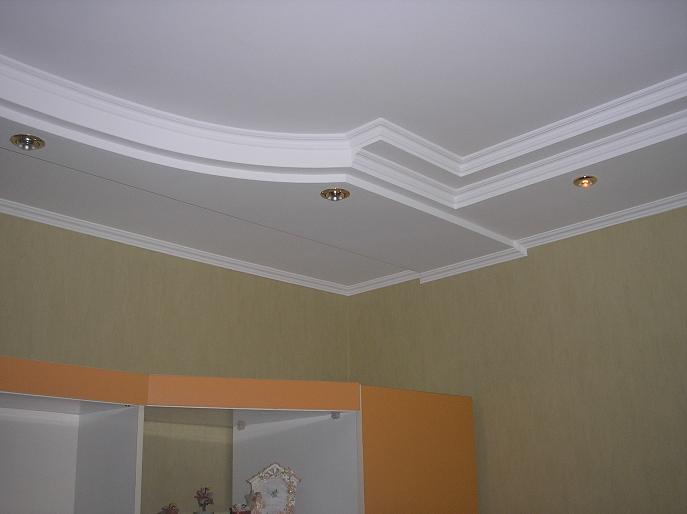Дизайн потолка из гипсокартона в спальне — более 40 фото идей