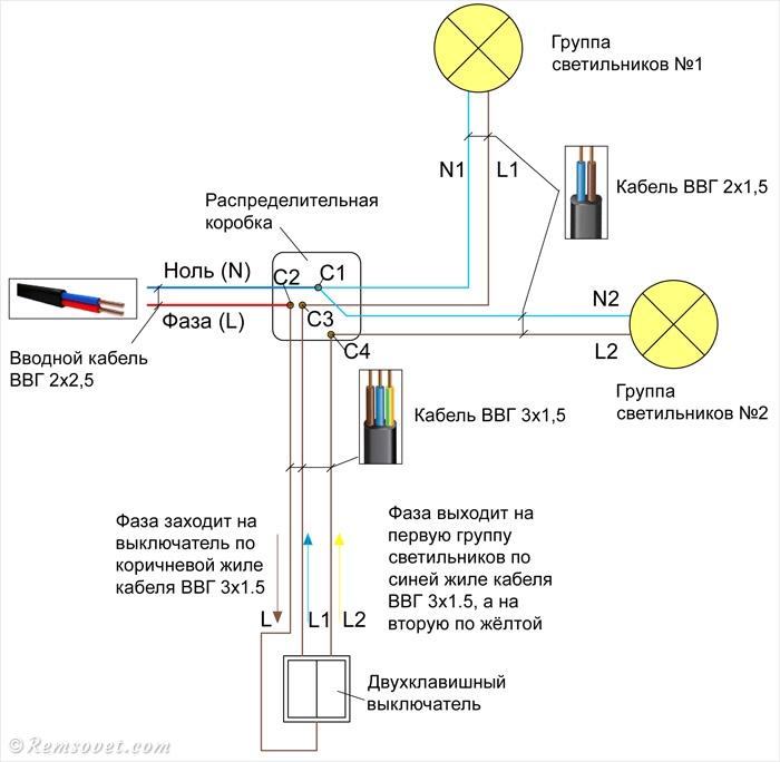 Как подключить выключатель света?