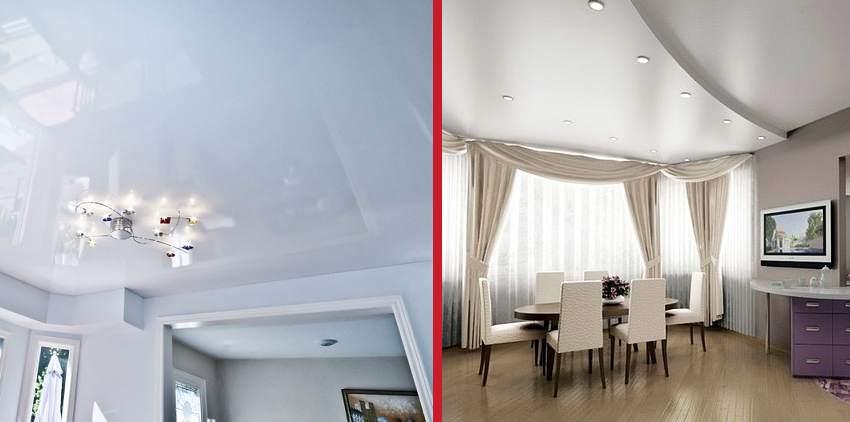 Что лучше — гипсокартонные или натяжные потолки?