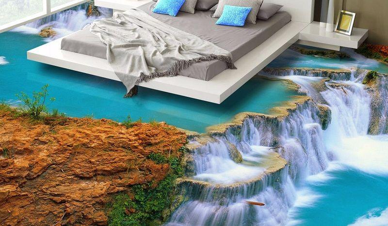 Наливной пол в квартире: заливные полимерные виды в интерьере с фото