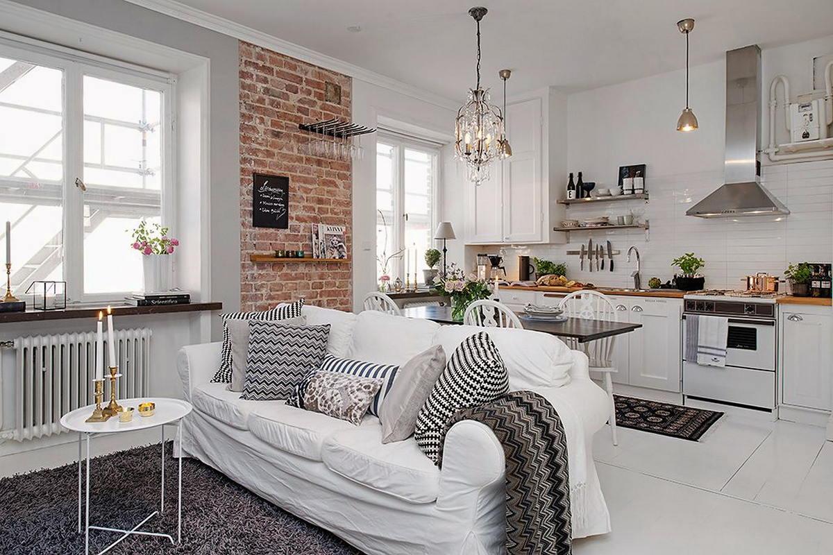 Интерьер в скандинавском стиле для маленькой квартиры: дизайн малогабаритных однушек фото