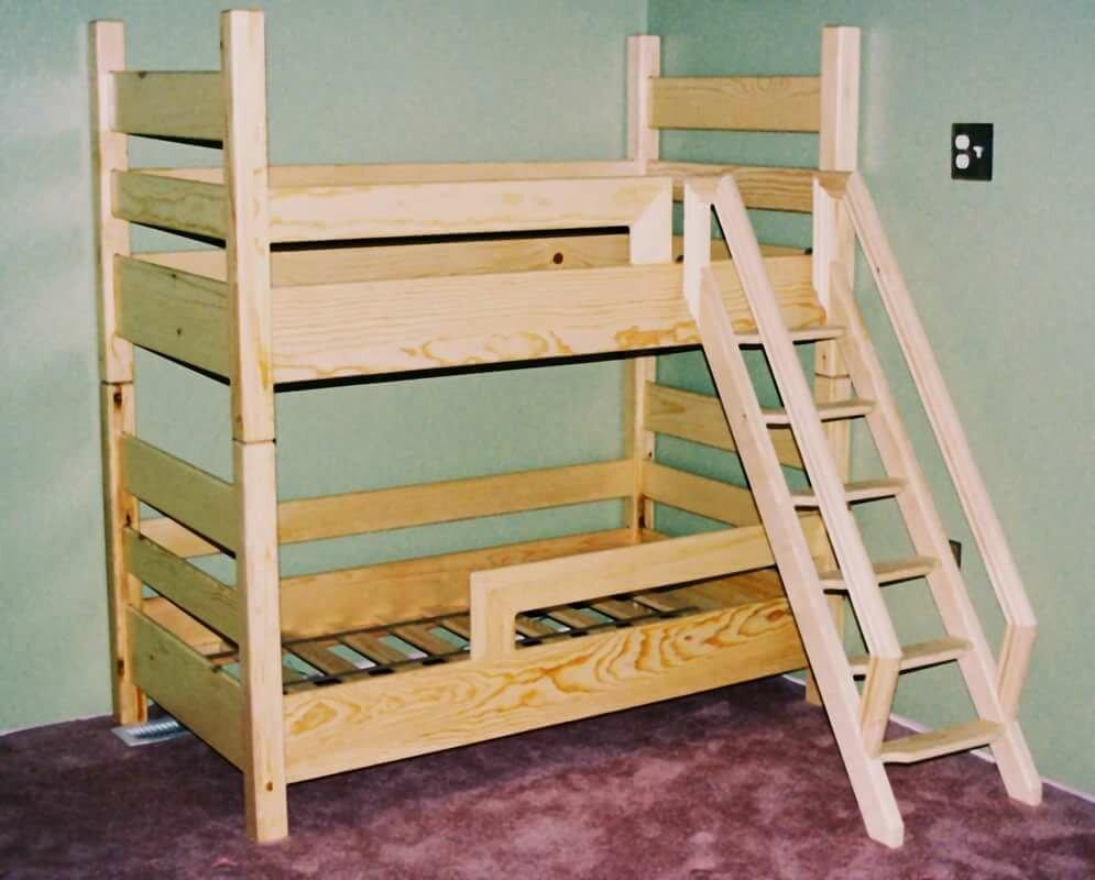 Детская двухъярусная кровать своими руками: чертежи, фото