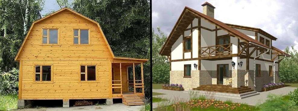 Сравнительная характеристика каркасных и брусовых домов: срок службы, ценообразование, архитектурно-конструктивные отличия