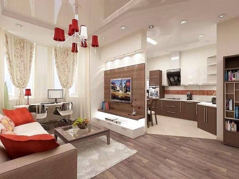Дизайн гостиной совмещенной с кухней - плюсы и минусы, практичные советы, фото идеи