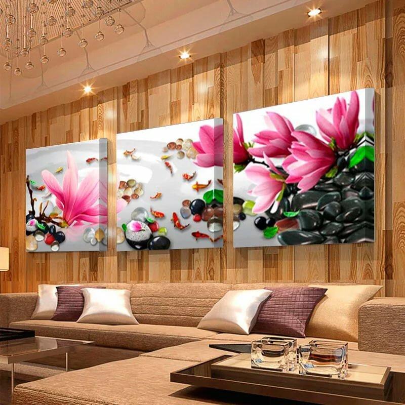 Картины для гостиной: 120 фото идеальных вариантов оформления гостиной картинами