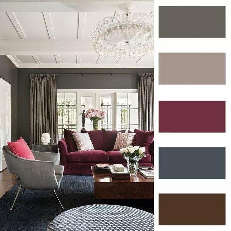 Гармония цвета: правила сочетания обоев двух цветов + 16 фото интерьеров