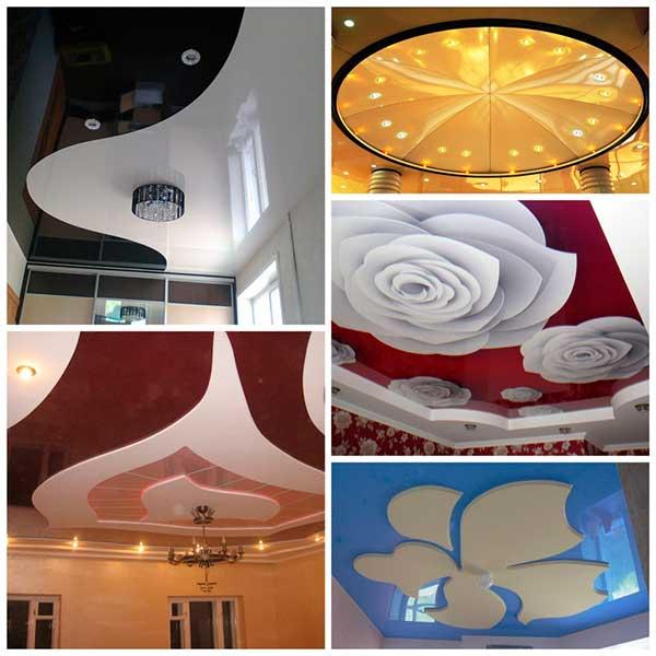 Потолок (185 фото): какие виды бывают и какие лучше сделать, красивые современные варианты декора интерьера в квартире