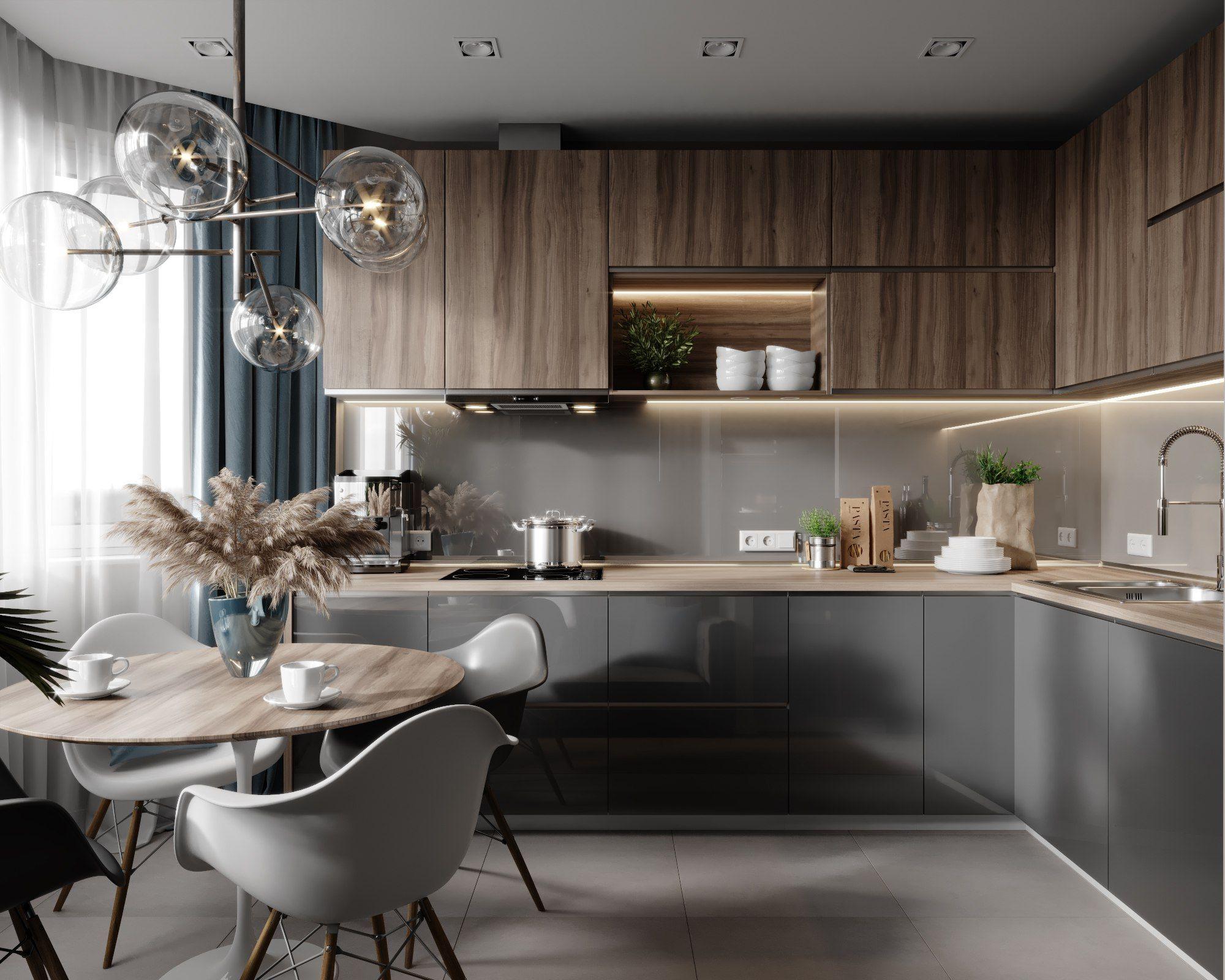 Дизайн маленькой кухни 2020: креативные идеи по преображению небольшого пространства (фото)