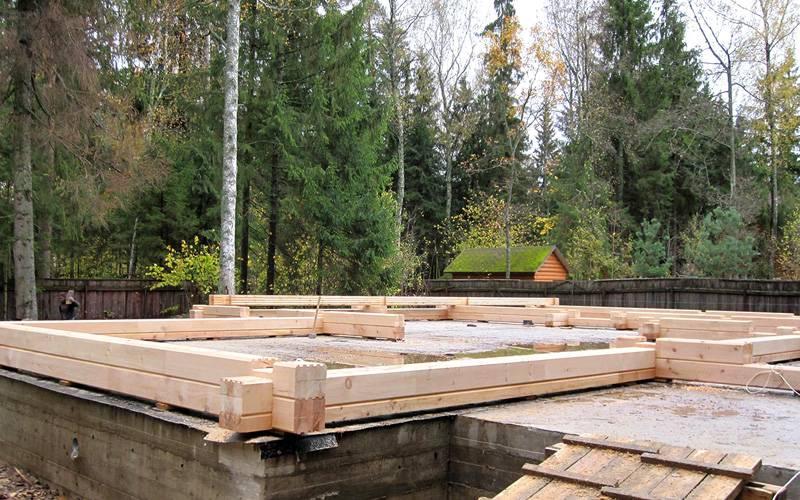 Ширина фундамента для дома из бруса 150х150 2 этажа
