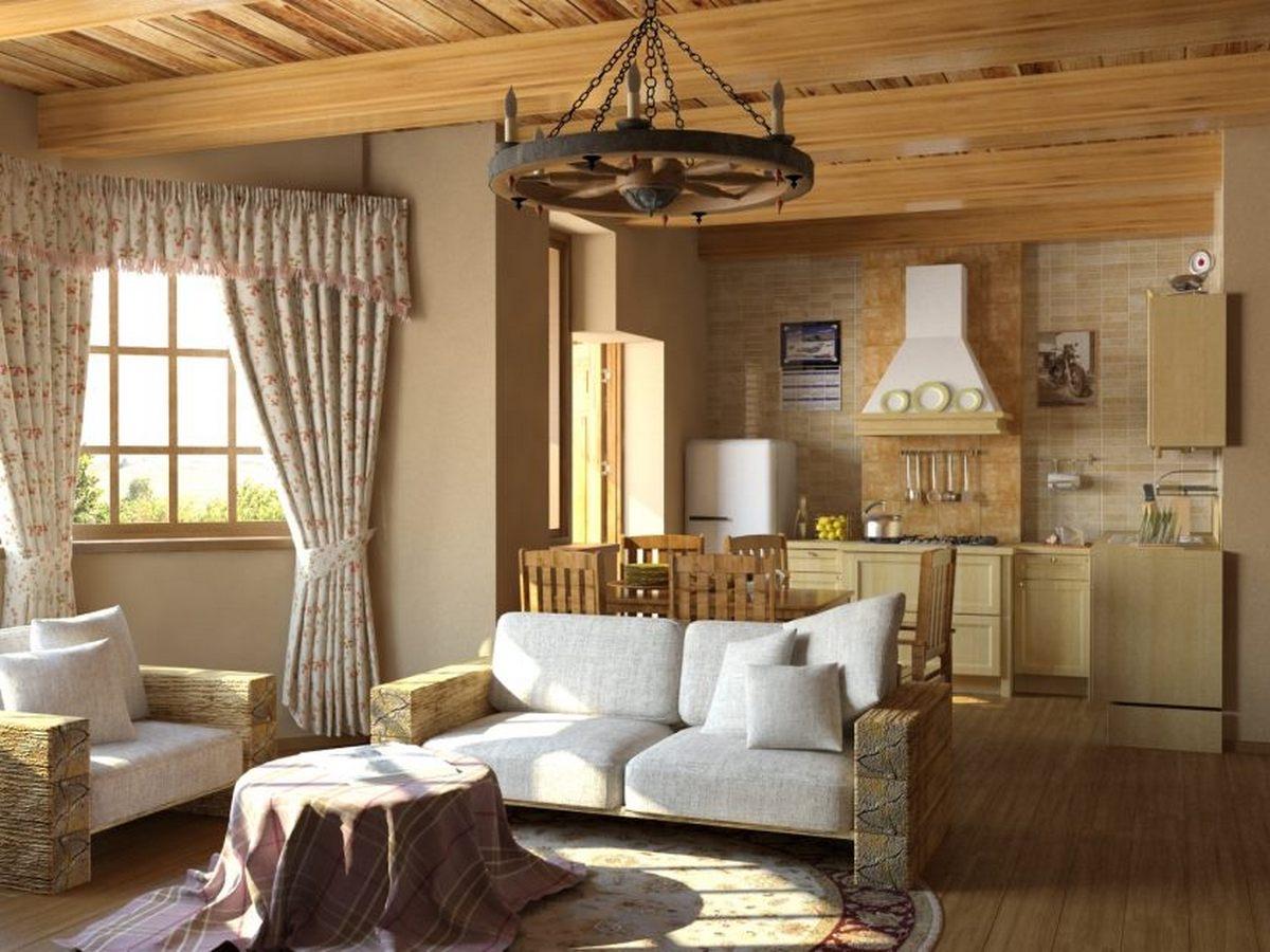 Стиль кантри в интерьере квартиры: фото дизайна современных хрущевок