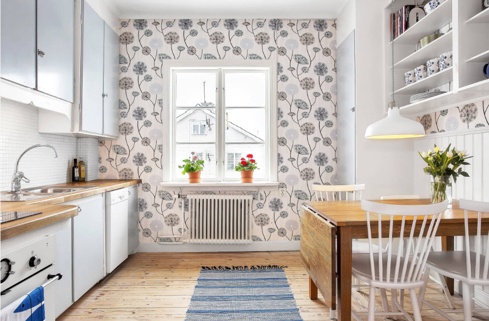 Современные кухонные обои и шторы в 2020 году