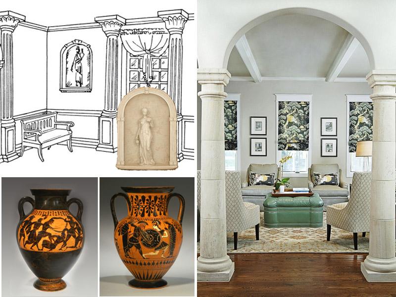 Необычое решение: античный и современный греческий стиль в дизайне интерьера квартиры