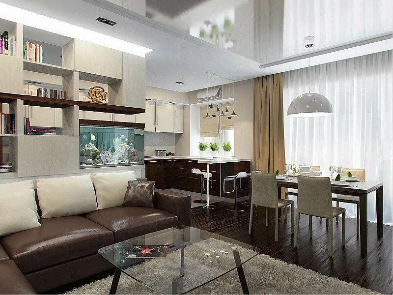 Кухня совмещенная с залом: как объединить, выбор дизайна, особенности интерьера