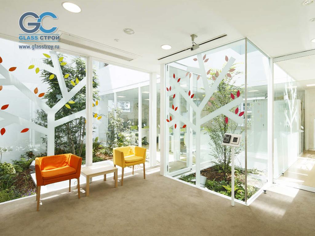 Использование стекла в интерьерах помещений.