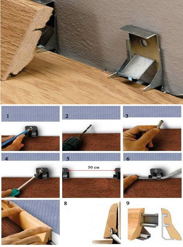 Установка потолочного плинтуса, фото и видео инструкции