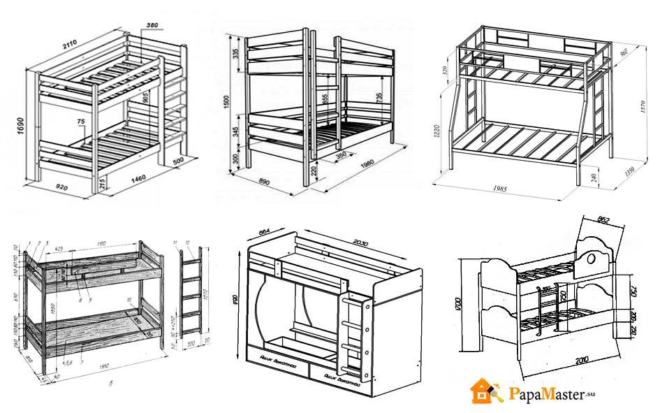Изготовление двухъярусной кровати своими руками для взрослых