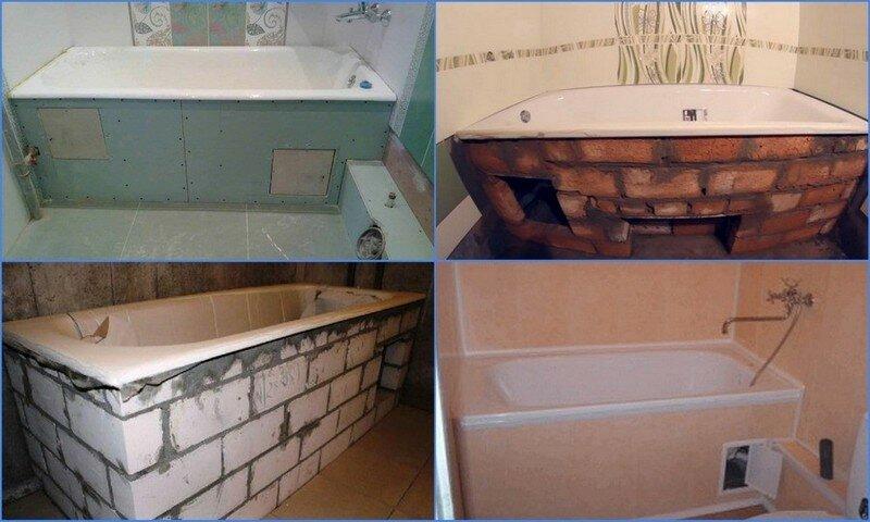 Установка акриловой ванны. выбираем оптимальные варианты монтажа