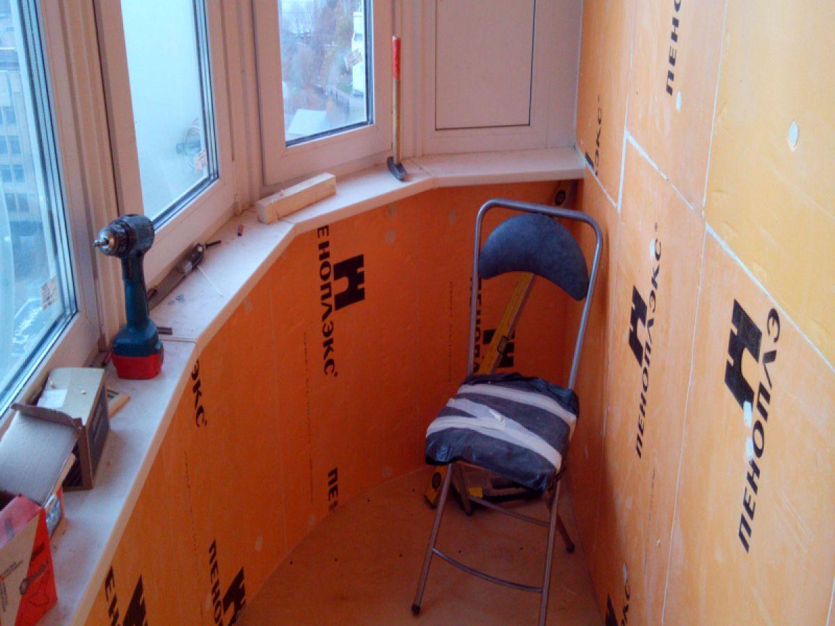 Как утеплить потолок на балконе самому