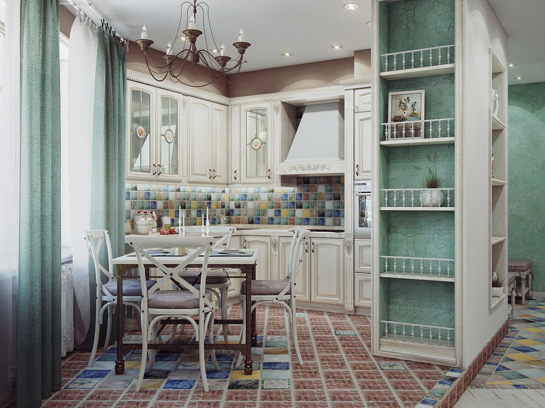 Когда хочется легкости и нежности: кухня в стиле прованс