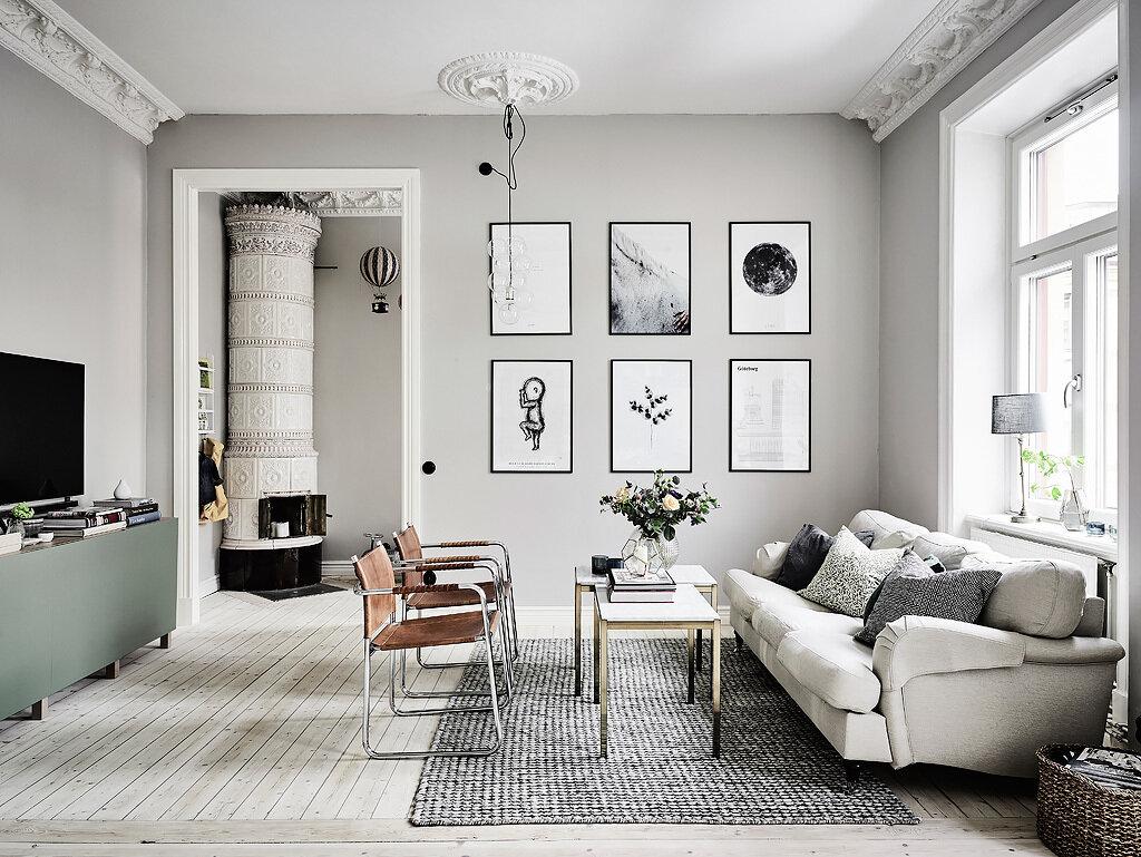 Комната в скандинавском стиле: 6 разных помещений и одно практичное решение