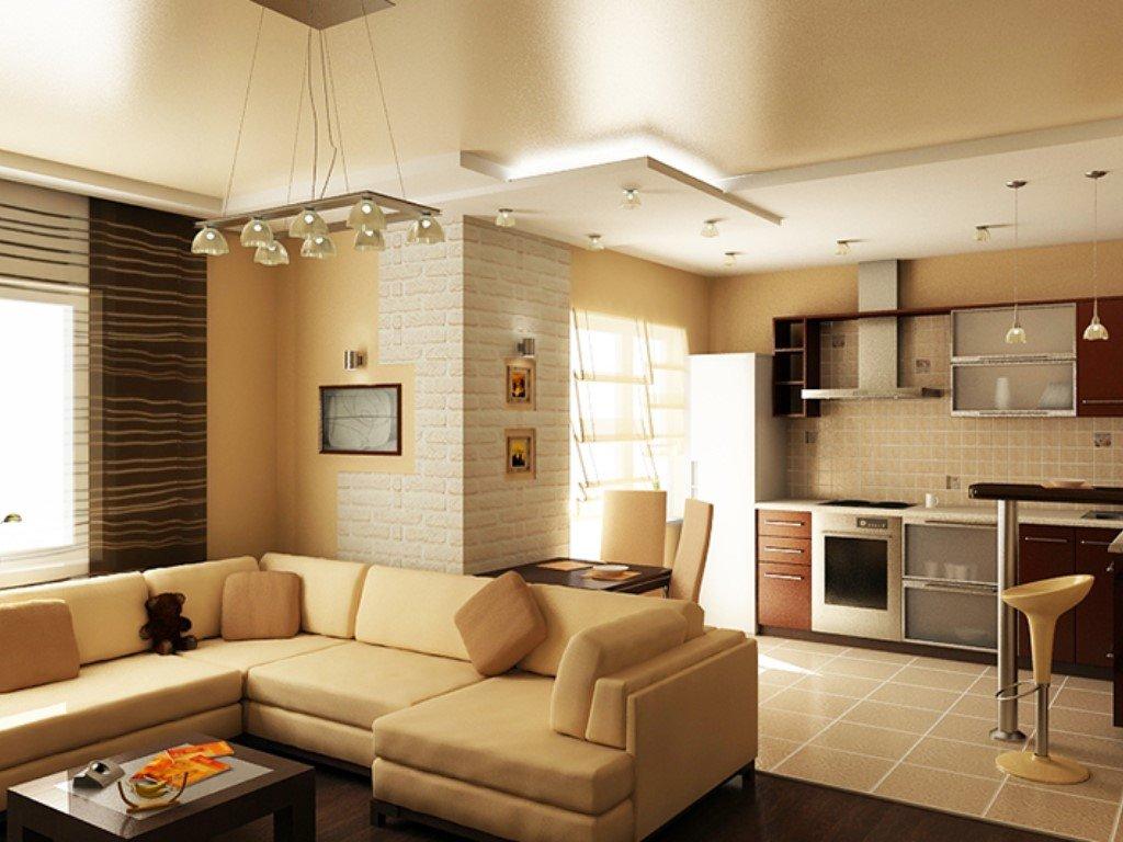 Маленькая кухня-гостиная: дизайн-проекты, фотографии зонирования помещения