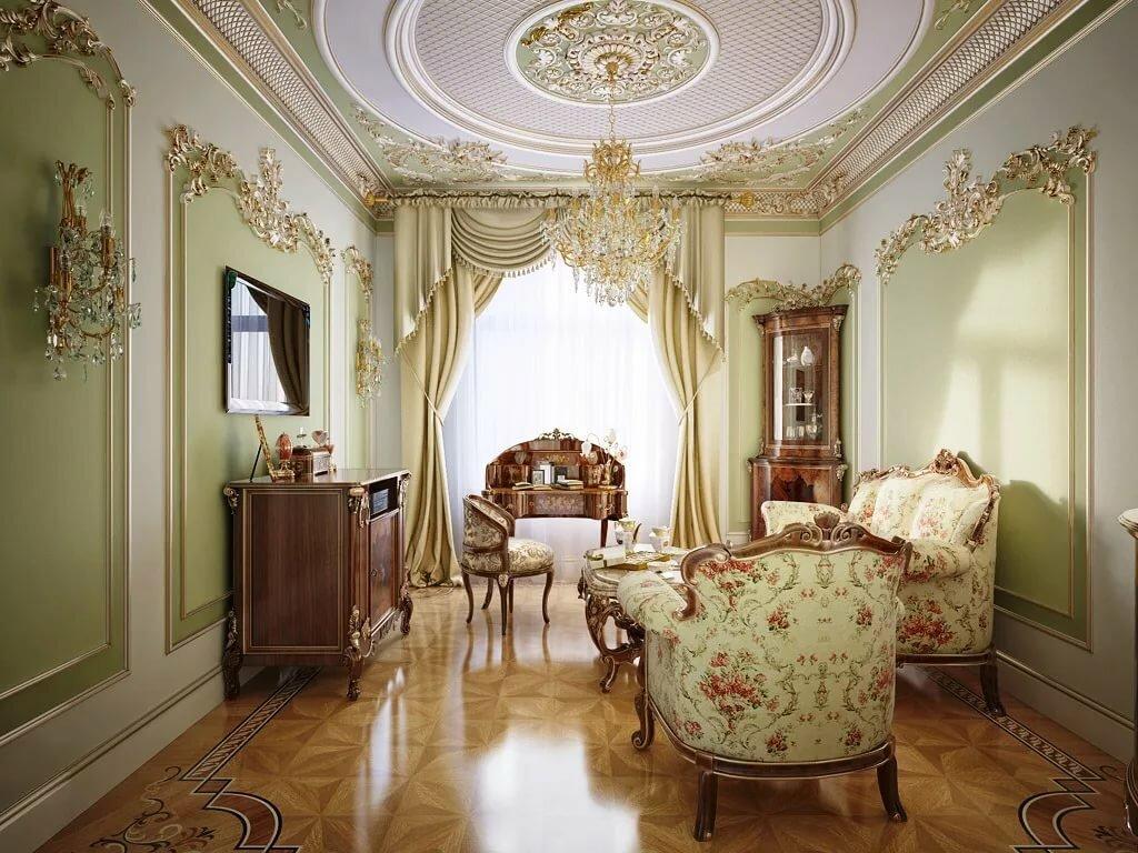 Стиль барокко в интерьере - описание и фото