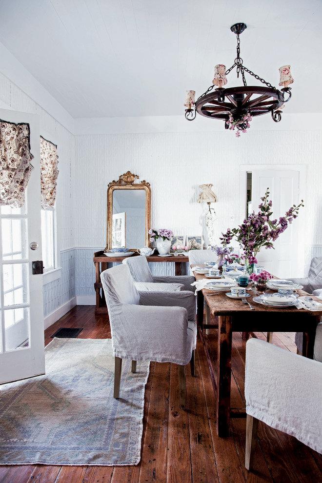 Дизайн гостиной в стиле шебби шик, фото