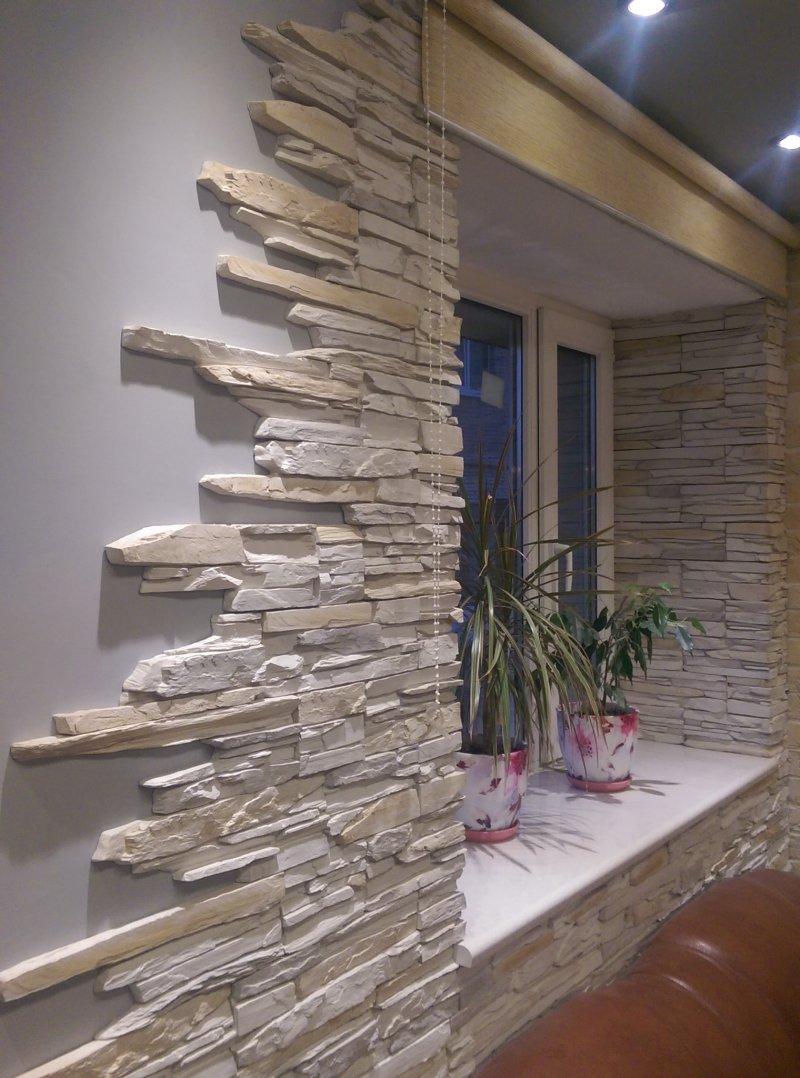 Применения декоративного камня в отделке кухни (фото примеры)
