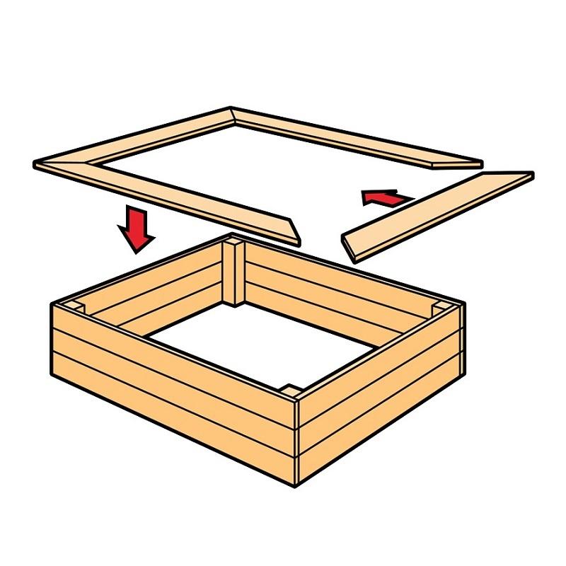 Как сделать детскую песочницу на даче своими руками (пошаговая инструкция)