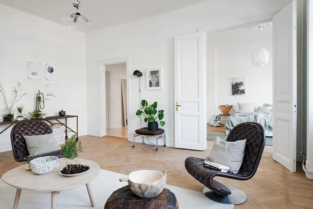 Гостиная в скандинавском стиле: реальные фото интерьера маленького помещения