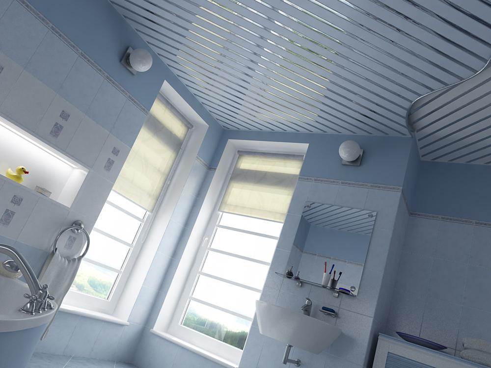 Какой потолок лучше сделать в ванной комнате: натяжной, реечный, подвесной?