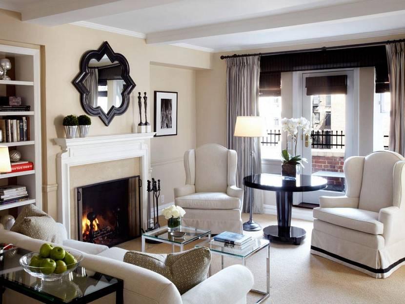 Американский стиль оформления интерьера гостиной комнаты