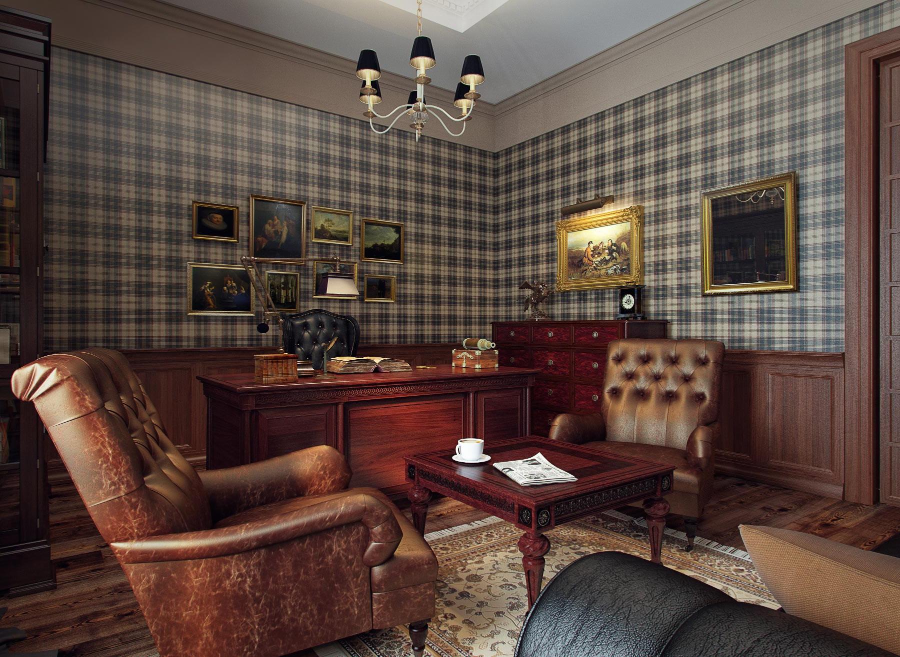 Кабинет в стиле лофт (50 фото): интерьер в «английском» и «классическом», «скандинавском» и современном хай-тек стиле