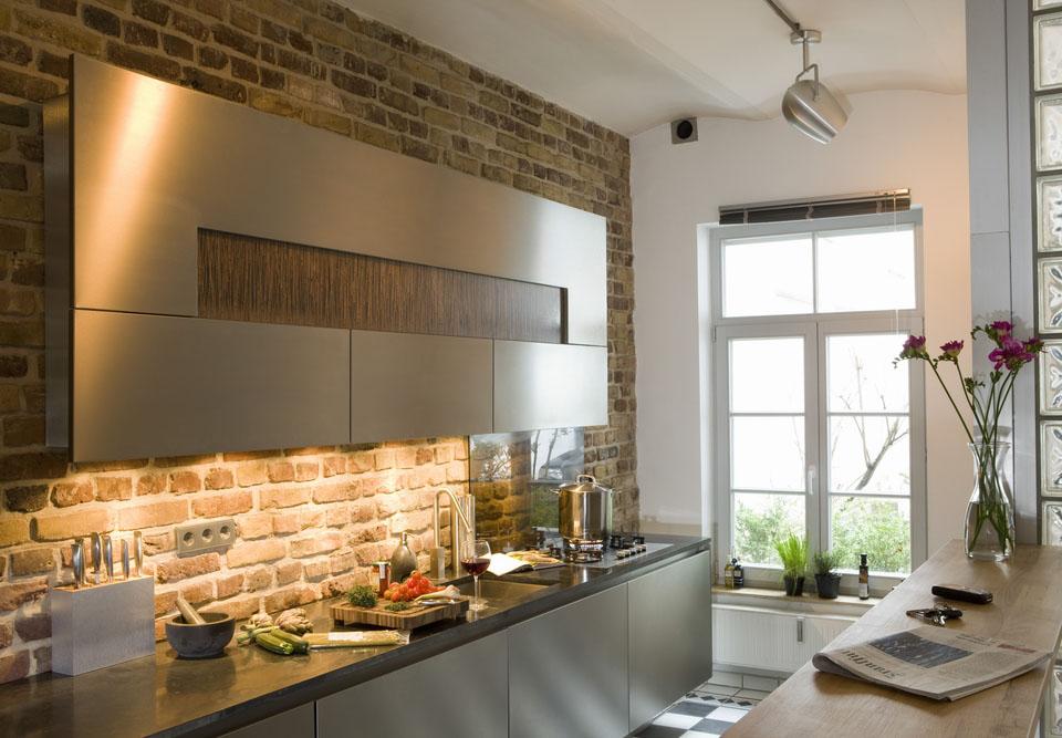 Дизайн кирпичной стены в интерьере кухни: какие виды кирпича