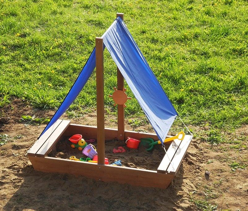Детская песочница своими руками для дачи – как сделать песочницу с крышкой из дерева, пошагово + фото-видео