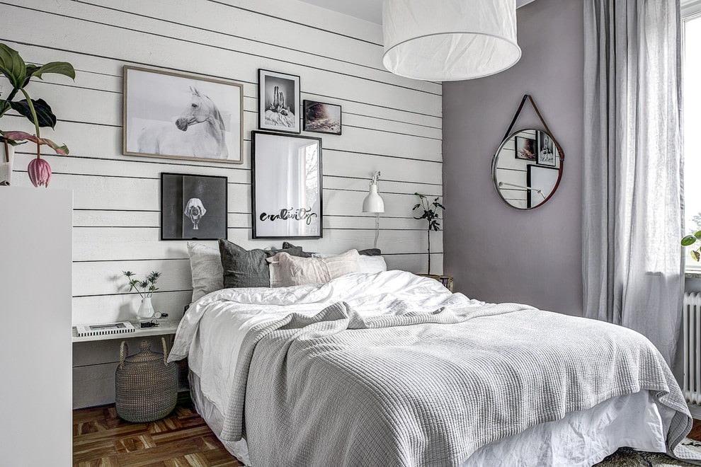 Спальня в скандинавском стиле (74 фото): дизайн интерьера маленькой спальни