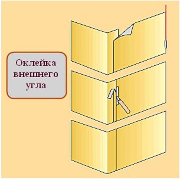 Поклейка комбинированных обоев на флизелиновой основе (часть 2)