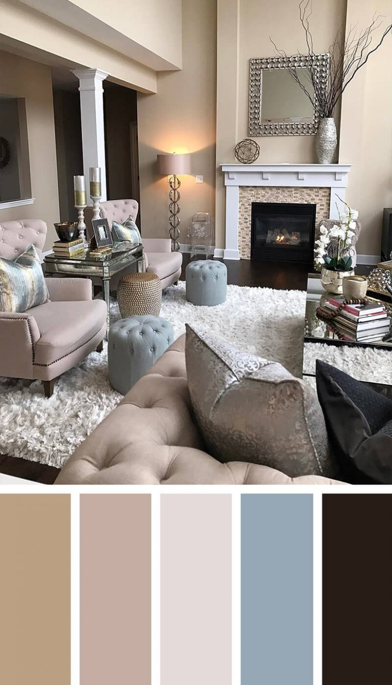 С какими цветами сочетается коричневый цвет в интерьере?