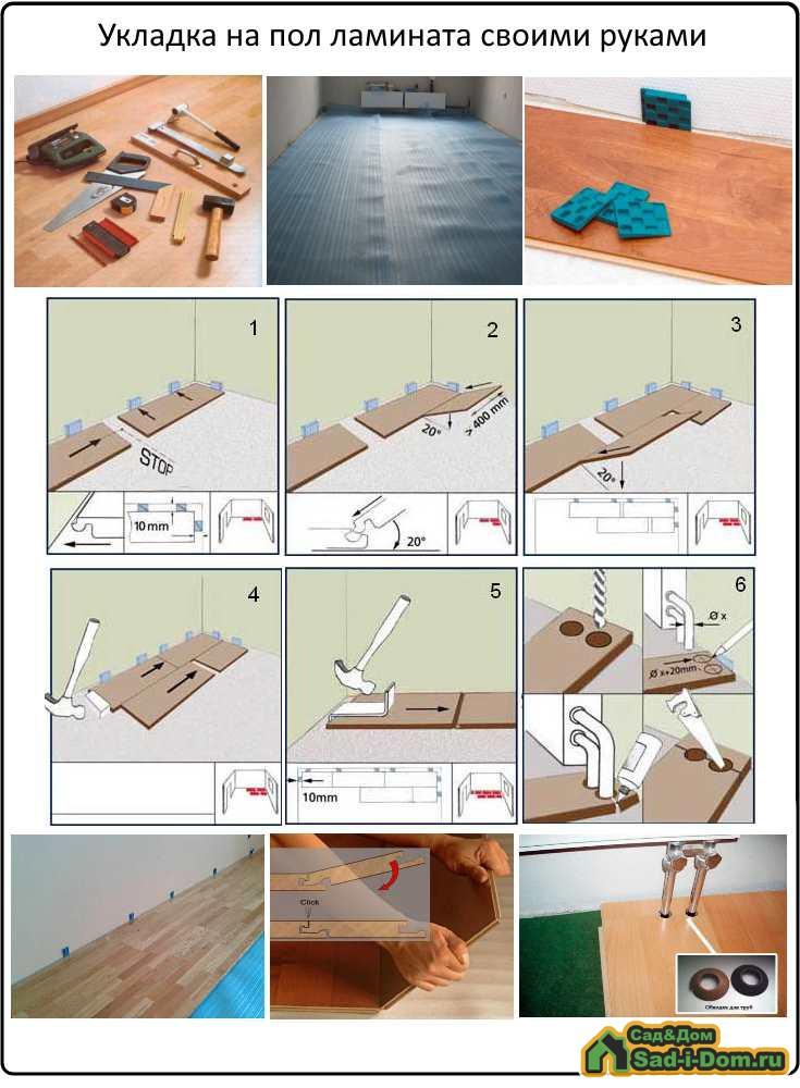 Укладка подложки под ламинат - правила и инструкция