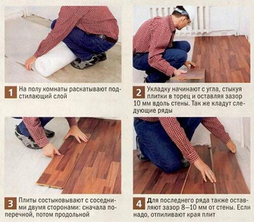 Как укладывать ламинат на пол своими руками