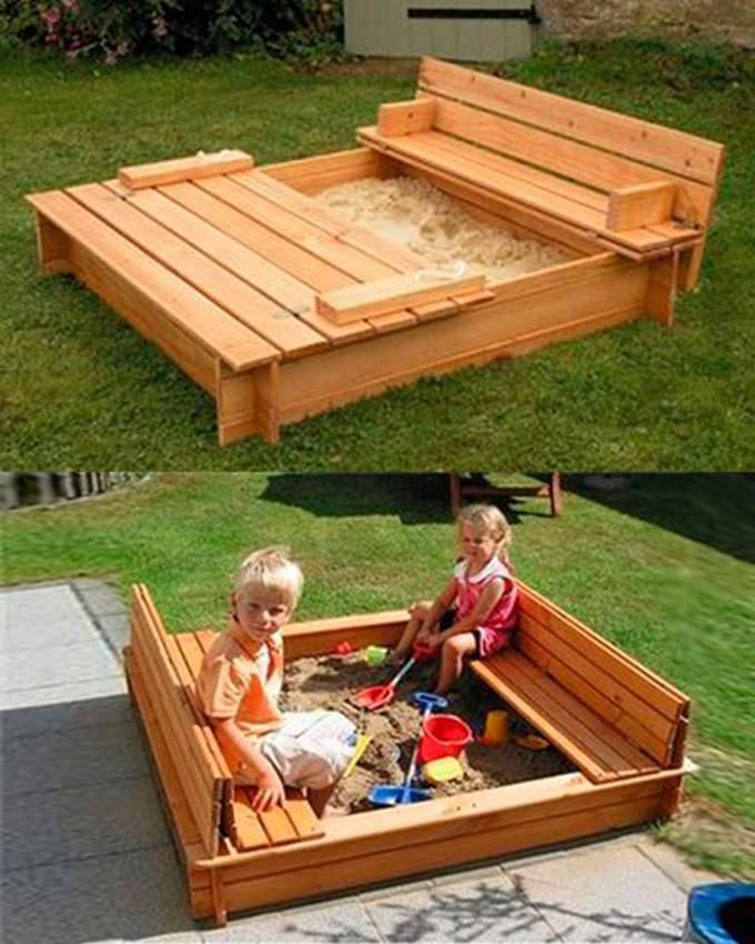 Детская песочница в саду: сооружаем классное место для детского отдыха