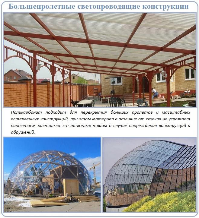 Монолитный поликарбонат — свойства и применение