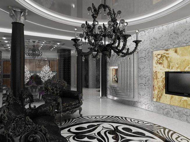 Зал в стиле барокко фото: гостиной дизайн, интерьер и архитектура в россии, лестницы