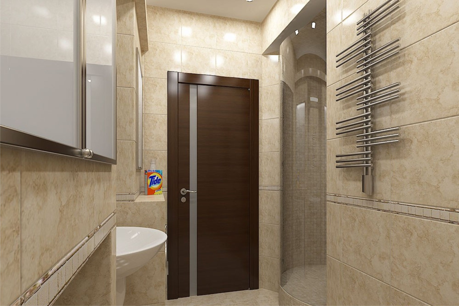 Выбираем материал дверей в ванную